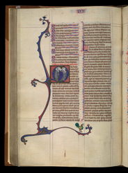 Historiated Initial To Numbers, In 'The Ashridge Petrus Comestor'